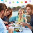 Group Of Friends Eating Meal — Stock Photo #50697837