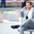 Businessman  Using Mobile Phone — Stock Photo #50697877