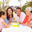 Multi-Generation Family Celebrating Birthday — Stock Photo #50697905