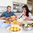 Family Prayer Before Eating Meal — Stock Photo #50698053
