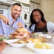 Family Eating Meal — Stock Photo #50698225