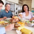 Family Eating Meal — Stock Photo #50698299