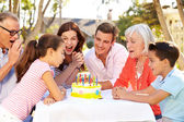 Multi-Generation Family Celebrating Birthday — Стоковое фото
