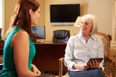 Woman Talking To Counsellor — Stock Photo