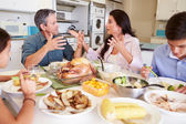 Family  Eating Meal — Stock Photo