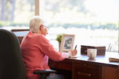 Senior Woman Writing Memoirs — Stock Photo