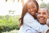 Loving African American Couple — Stock Photo