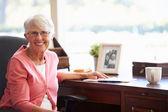 Senior Woman Writing Memoirs — Stock Photo