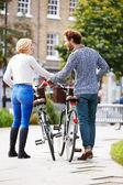 Kilka rowerowych wycieczek po parku — Zdjęcie stockowe