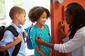 Children  Leave For School — Stock Photo