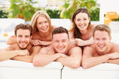 People On Holiday Relaxing — Stock Photo