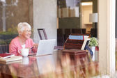 Senior Woman Using Laptop — Stock Photo
