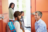 Children  Leave For School — Stock Photo