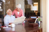 Senior Couple Looking At Photo Album — Stock Photo