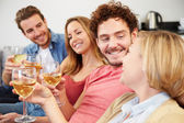 Friends Enjoying Glass Of Wine — Stock Photo