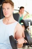 Two  Men Training In Gym — Stock Photo