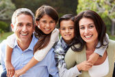 Hispanic Family In Countryside — Stock Photo