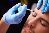 Man Having Botox Treatment — Stock Photo