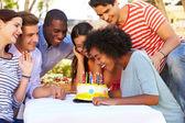 Friends Celebrating Birthday — Stock Photo