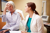Doctor  With Senior Female Patient — Stock Photo