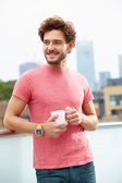 Man With Cup Of Coffee — Stock Photo