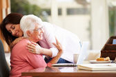 Senior Mother Being Comforted By  Daughter — Stock Photo
