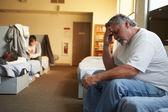 Men  In Homeless Shelter — Stock Photo