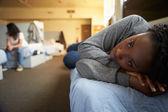 Women In Homeless Shelter — Stock Photo