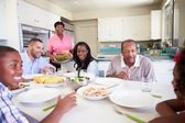 Multi-Generation Family  Eating Meal — Foto Stock