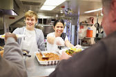 Homeless Shelter Kitchen — Stock Photo