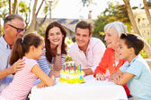 Multi-Generation Family Celebrating Birthday — Foto Stock