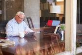 Senior Man Using Digital Tablet — Stock Photo