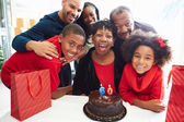 Family Celebrating 60th Birthday — Stock Photo