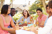 Group Of Friends Enjoying Meal — Stock Photo