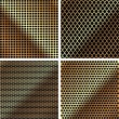 A set of metal grille 3 — Vector de stock #12108497