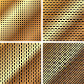 A set of metal grille 3 — Vector de stock