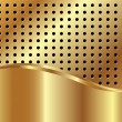 Gold background with grid — Stock Vector