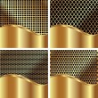 Set of gold backgrounds 2 — Imagen vectorial