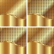 Set of gold backgrounds 4 — Stock Vector