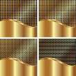 Set of gold backgrounds — Stock Vector