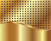 Gold background with grid — Stok Vektör
