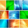 图库矢量图片: Set of abstract backgrounds