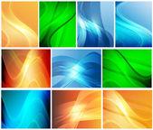 Een set van abstracte achtergronden — Stockvector