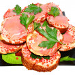 Royalty-Free Stock Photo: Sandwiches with red caviar