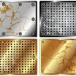 A set of metal backgrounds - Image vectorielle