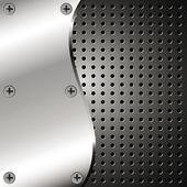 Metalen achtergrond met raster — Stockvector