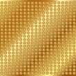 Gold metal background with rivets — Stockvector #18661621