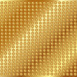 Stock Vector: Gold metal background with rivets
