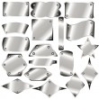 Set of metal plates — Stockvector #18661707