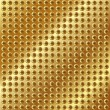 Metallic gold background with screws — Grafika wektorowa